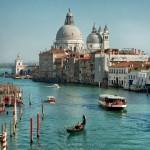 Grand Canal and Basilica Santa Maria della Salute Venice Italy small